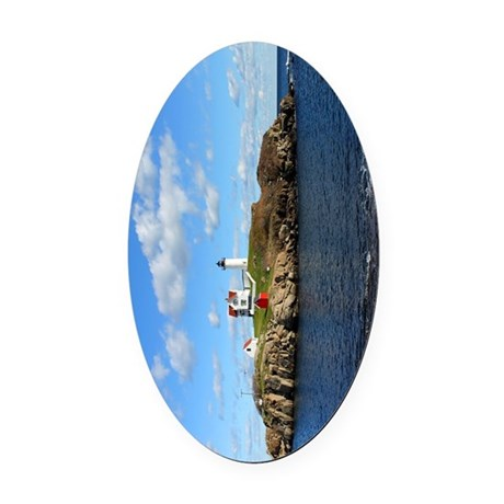Nubble Light House (Cape Neddick L Oval Car Magnet