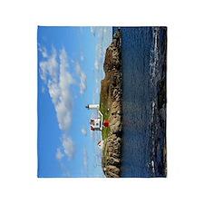 Nubble Light House (Cape Neddick Lig Throw Blanket