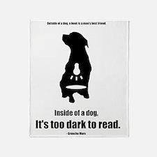 Inside of a Dog Design Throw Blanket