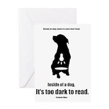 Inside of a Dog Design Greeting Card