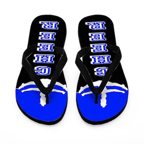 Cheerleader Blue And Black Flip Flops