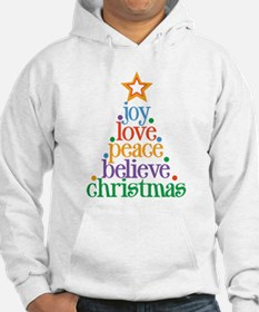Joy Love Christmas Jumper Hoody