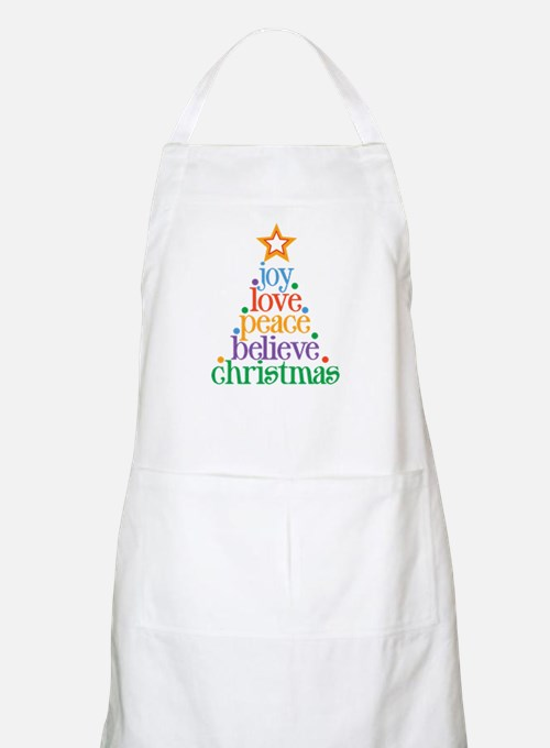 Joy Love Christmas Apron