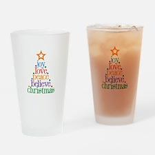 Joy Love Christmas Drinking Glass
