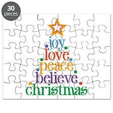 Joy Love Christmas Puzzle