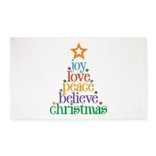Joy Love Christmas 3'x5' Area Rug