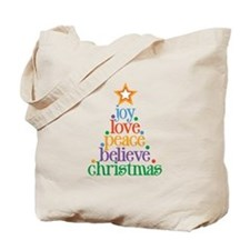 Joy Love Christmas Tote Bag