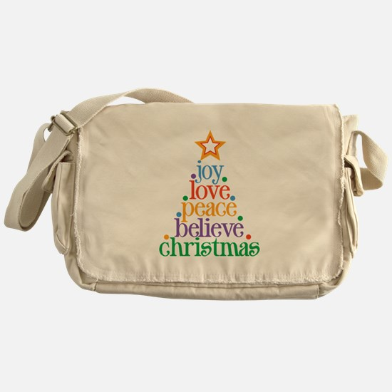 Joy Love Christmas Messenger Bag