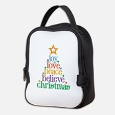 Joy Love Christmas Neoprene Lunch Bag