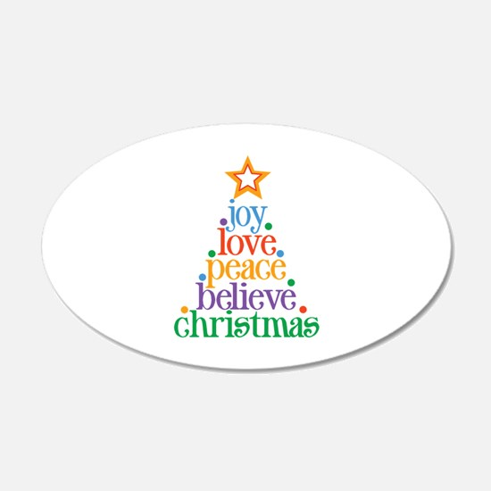 Joy Love Christmas Decal Wall Sticker