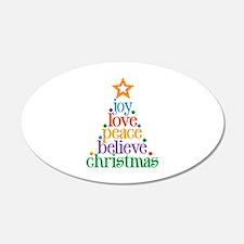 Joy Love Christmas Wall Decal
