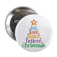"Joy Love Christmas 2.25"" Button"
