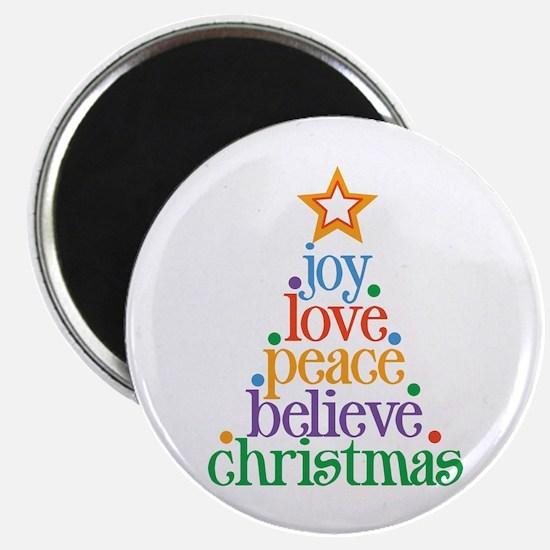 Joy Love Christmas Magnet