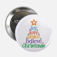 "Joy Love Christmas 2.25"" Button (100 pack)"