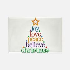 Joy Love Christmas Rectangle Magnet (10 pack)