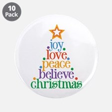 "Joy Love Christmas 3.5"" Button (10 pack)"