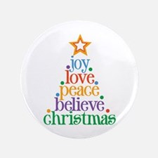 "Joy Love Christmas 3.5"" Button (100 pack)"