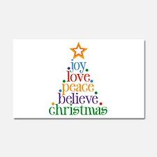 Joy Love Christmas Car Magnet 20 x 12