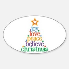Joy Love Christmas Decal