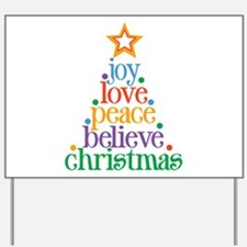 Joy Love Christmas Yard Sign
