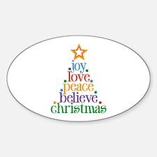 Joy Love Christmas Decal
