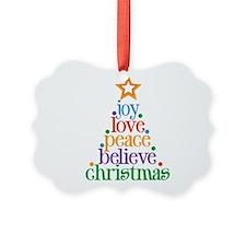 Joy Love Christmas Ornament