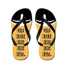 Cheerleader Black And Gold Flip Flops
