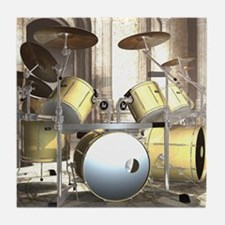 Big Drum Set Tile Coaster