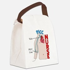 PICC NURSE TORSO BEST Canvas Lunch Bag