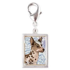 orchid-key2 back Silver Portrait Charm