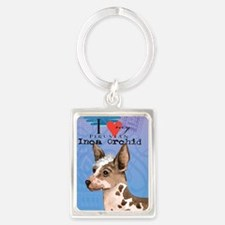 orchid-oval key Portrait Keychain