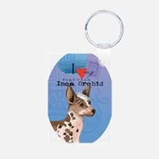 orchid-oval Keychains
