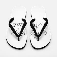 Marriage Material Flip Flops