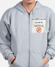 neversettle copy Zip Hoodie
