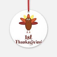 First Thanksgiving Turkey Ornament (Round)