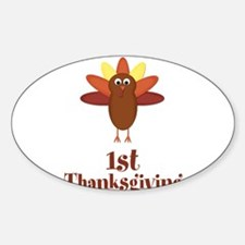 First Thanksgiving Turkey Decal