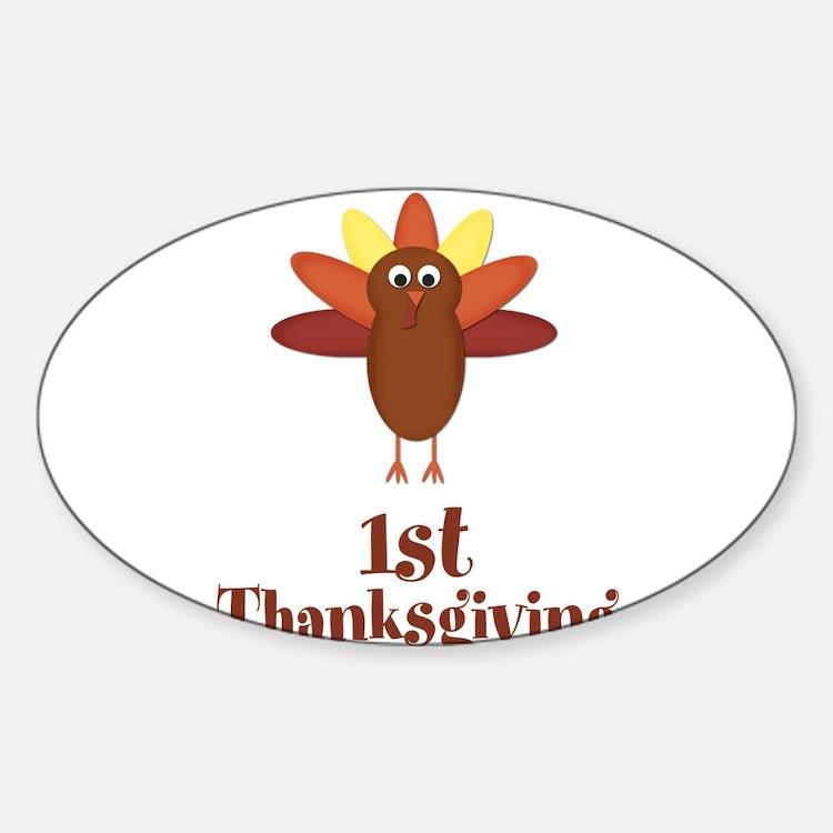 First Thanksgiving Turkey Decal
