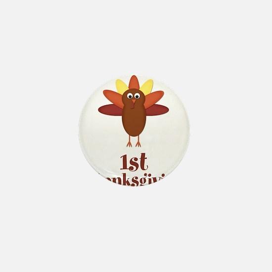 First Thanksgiving Turkey Mini Button (10 pack)