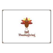 First Thanksgiving Turkey Banner