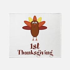 First Thanksgiving Turkey Throw Blanket