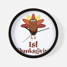 First Thanksgiving Turkey Wall Clock
