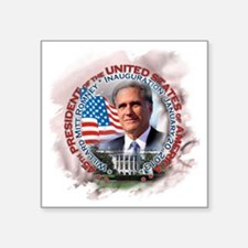 "Mitt Romney inaugural 001 Square Sticker 3"" x 3"""