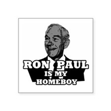 "RonPaulHomeboy1 Square Sticker 3"" x 3"""