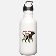 Pointer dog holiday Water Bottle