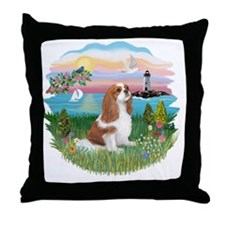 Lghthouse - Cavalier (BL-F) Throw Pillow