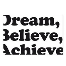 Dream Believe Achieve Postcards (Package of 8)