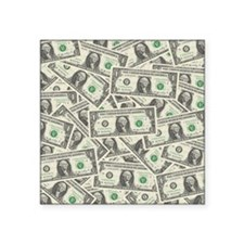 "july11_many_dollars Square Sticker 3"" x 3"""