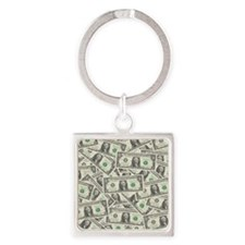 july11_many_dollars Square Keychain
