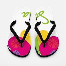 Sofia-the-butterfly Flip Flops