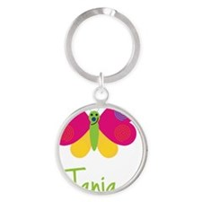 Tania-the-butterfly Round Keychain